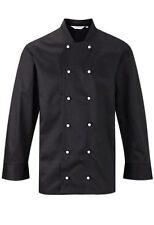 More details for black or white co-operative long sleeve chef jacket plastic buttons chefs jc363