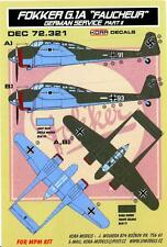 KORA Decals 1/72 FOKKER G.1A FAUCHEUR REAPER in German Service Part 2