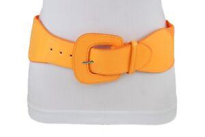 Women Bright Neon Orange Belt Hip Waist Party Night Wear Fashion Sexy Style S M