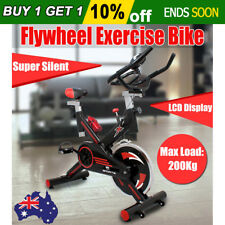 Commercial Flywheel Exercise Spin Bike LCD Display Gym Fitness Home Adjustable