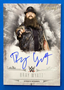 2016 Topps WWE Undisputed #UA-BRW Bray Wyatt Autograph Card 296/299