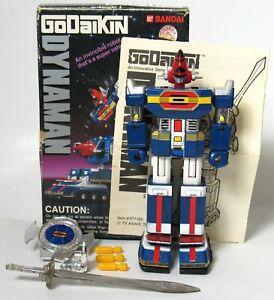 "Vintage Bandai 5 1/2"" Dynaman Godaikin Dyna Robo ST GB-97 Complete 1984 With Box"