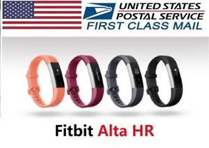 Fitbit Alta HR Fitness Activity Tracker, Large Small, Pink Black Orange Fuchsia