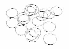 20 Sterling Silver 10mm Seamless Plain  Nose Ring Cartilage Tragus Piercing
