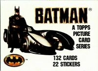 1989 Topps Batman Movie Cards - PICK CHOOSE YOUR CARDS