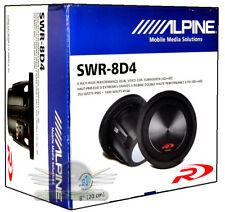 "Alpine SWR-8D4 8"" Dual 4-Ohm Type-R Series Car Subwoofer New SWR8D4 Subwoofer"