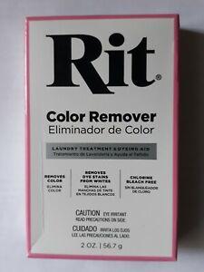 Rit Dye Powdered Fabric Dye Color Remover 2 fl oz Chlorine Bleach Free.
