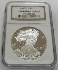 2002-W American Proof Silver Eagle NGC PF69 Ultra Cameo