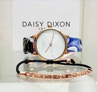 New DAISY DIXON Watch Floral Leather strap+ BraceIet IDEAL GIFT for Her! RRP£79