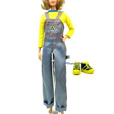 Barbie Fashion Generation Girl Nichelle Yellow Top and Overalls Trainers
