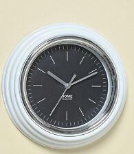 Uhr Wanduhr Bad Badezimmer Badzimmeruhr Baduhr modern Design weiss Kunststoff