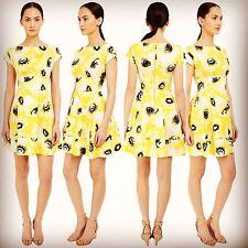 KATE SPADE - FIORELLA floral Cap Sleeves Yellow Daisy Dress 14 XL $368 NEW NWT