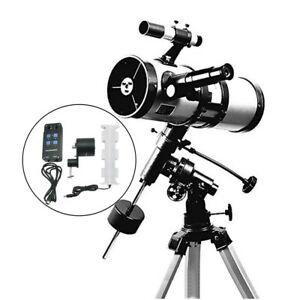 Visionking 114 1000 mm EQ Equatorial Mount Space Astronomical Telescope Motor