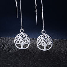 Fashion wedding Charm Silver Earring Pretty crystal women cute tree Jewelry nice