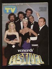SORRISI 38/1987 TELEGATTI SPAGNA VASCO ROSSI MATIA BAZAR CUCCARINI PUFFI 007 JB