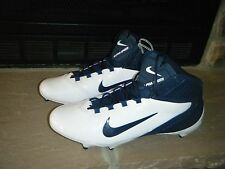 NEW NIKE ALPHA SPEED TD 3/4 FOOTBALL SPIKES CLEATS WHITE NAVY BLUE SIZE 16 RARE!