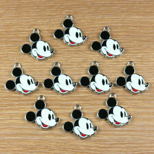 Lot 10pcs Mickey Mouse Metal Enamel Charm Pendants for Jewelry Making Crafts DIY