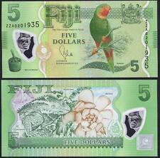 FIJI 5 Dollars Polymer 2012 / 2013 REPLACEMENT ZZ UNC P New
