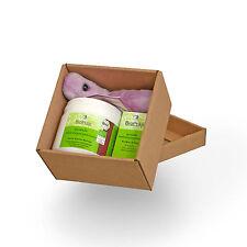 Probiotikum-Box: Biopräp Probio-8 und Darmkurier, und ein original Riesenmikrobe
