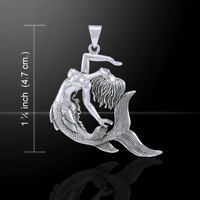 Mermaid .925 Sterling Silver Pendant by Peter Stone Jewelry
