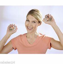 Entrenador de mano dedo entrenador flexringe fitness set 2 anillos con pinchos tachuelas nuevo