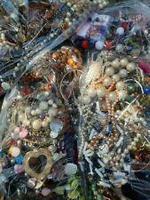 1.5KG Mixed Job Lot Bundle BROKEN Costume Jewellery Beads Repair Craft Harvest