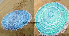 2Bohemian Mandala Beach Round Tapestry Hippie Throw YogaMat Towel Indian Roundie