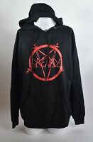 2016 NWOT MENS GRENADE NO MERCY PULLOVER HOODIE $55 L black red cotton gloves