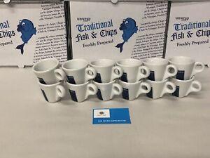 12 Lavazza Espresso Cups Only Blue Box Logo (tazza Coffee Senza Piatto)