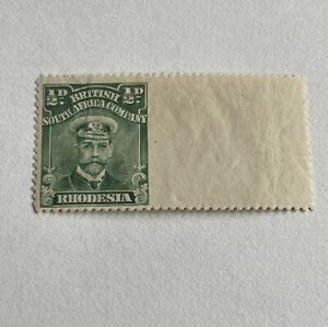 Rhodesia Admiral Marginal 1/2d Green