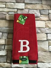 Monogram LETTER B Buffalo Check Hand Towels 2 pieces