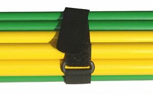 Alfatex® by Velcro® Brand Straps Cable Ties Strap with Buckle Black 2.5CM x 25CM