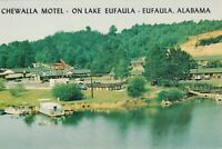 Eufaula, AL - Chewalla Motel - Panoramic View of Property from Lake - Signage