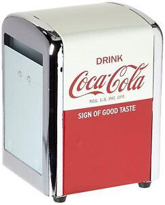 Napkin Dispenser Kitchen Vintage Table Craft Coca Cola Half Red Holder Collector