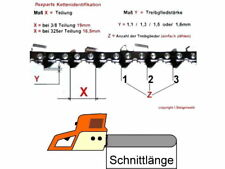 Kette 35cm 3/8 1,1 52 passend für Bosch Makita Dolmar Sägekette Motorsäge