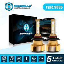 IRONWALLS 4-sides LED Headlight Bulbs Kit 9005 9145 HB3 H10 High Beam Lamp 6000K