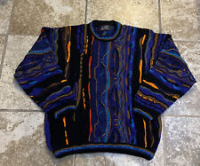 Rare Vintage Men's Tundra Coogi Style Colorful Sweater Size Large Made In Canada