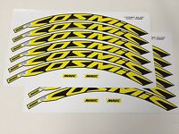 Mavic Cosmic Elite 30mm+ Wheel Decals/Stickers Set of 12 decals YELLOW