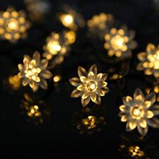 20 LED 2.2M Warm White Flower Shape String Lamp Fairy Lights Xmas Wedding Decor