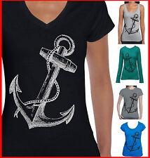 Anchor Rockabilly Sailor retro ladies Women's T-Shirt Men's funky size Singlet