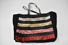 Black Red Victoria's Secret Sequins Handbag Large Canvas Tote NWT Pink Yellow