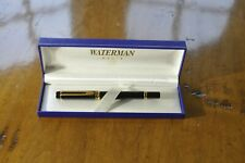 Vintage Waterman Le Man Rollerball Pen - Black & 18k Gold Trim - with box
