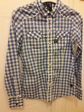 Ladies G Star Raw Check Shirt Small .. Excellent Condition Long sleeve.