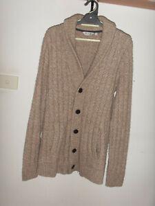 """""""BLAQ"""" 65% Wool, 35% Nylon Cardigan, Size M"""