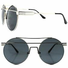 Celebrity Fashion Stylish Silver Sexy Womens Designer Inspired Round Sunglasses
