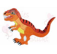 XL T Rex Dinosaurier Aufbügler Aufnäher Bügelbild T-Rex Schultüte orange farben