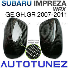 Carbon Fiber Side Mirror Cover For Subaru Impreza WRX R RS RX XV MY08 2007-2011