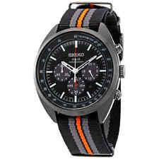 Seiko Recraft Black Dial Men's Chronograph Nylon Watch SSC669