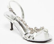 Maisie-11 Prom Wedding Slingback Rhinestone Open Toe Kitten Heel Sandal Shoe SLV