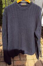Men's Brooks Brothers 100% COTTON CREWNECK Sweater Size LARGE BLUE
